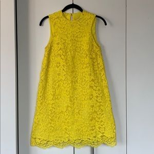 Floral lace dress with button closure